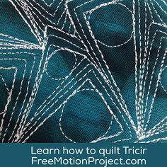 What happens when you machine quilt circles inside of triangles? You get Tricir - a cool new free motion quilting design! Find the video tutorial here: http://www.freemotionquilting.blogspot.com/2015/11/how-to-machine-quilt-tricir-456.html