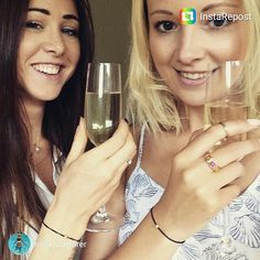 I love this picture from @holly_wayfarer @zarastevenson & I rocking our @maemaejewelry friendship bracelets!  #maemaejewelry #friends #bestfriends #girls #friendship #friendshipbracelet #jewelry #lifefriends #cheers #bubbles #champagne #smile #birthday#instarepost20
