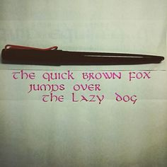 #thequickbrownfoxjumpsoverthelazydog #thequickbrownfox #uncial #calligraphy #handwriting #handlettering #lettering #色彩雫 #色彩雫躑躅 #lamyjoy