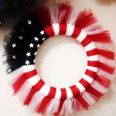 Patriotic Tulle Wreat by BookeysCreations on Etsy