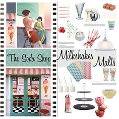 The Soda Shop by szaboesz on Polyvore featuring interior, interiors, interior design, home, home decor, interior decorating, Tag, Dress My Cupcake, Design 55 and Silikomart