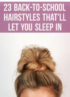 Simple easy hairstyles for school. Simple easy hairstyles for school. Easy Morning Hairstyles, Fast Easy Hairstyles, Super Cute Hairstyles, Quick Hairstyles For School, Everyday Hairstyles, Overnight Hairstyles, Hairstyles 2018, Summer Hairstyles, Trendy Hairstyles