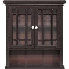 Elegant Home Neal 2 Door Wall Cabinet with Shelf - ELG-557