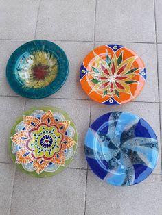 Miryam Vitrofusión: 2014 Fused Glass, Glass Art, Decorative Plates, Crafts, Diy, Decoupage, Craft Ideas, Home Decor, Jars