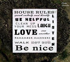 House rules tabuľka