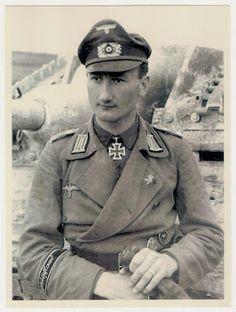 Diddo Diddens of Sturmgeschützabteilung Großdeutschland wearing a SS-Ehrenring (SS-Honor Ring) or Totenkopfring (Death's Head Ring).