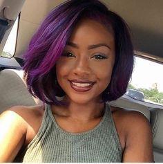 Photo brown skin purple hair in braids hairstyles 12 Images 10 Prettiest Hair Color Trends in 2020 – HairstyleCamp Black Women Hairstyles, Hairstyles With Bangs, Trendy Hairstyles, Girl Hairstyles, Fringe Hairstyles, Wedding Hairstyles, Short Haircuts, Hairstyles 2016, Popular Haircuts