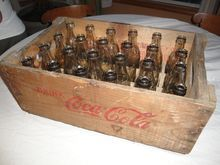 Coca Cola, WW2 Overseas Military Wood Case With Bottles