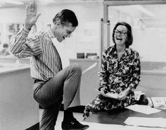 June 30, 1971, Washington Post Publisher Katharine Graham and Executive Editor Benjamin C. Bradlee react to a Supreme Court decision allowing publication of the Pentagon Papers to resume.