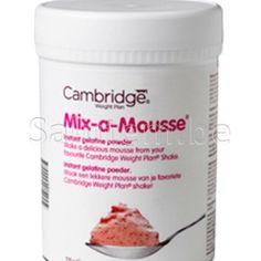 Gebruik Mix-a-Mousse om van je shake een heerlijke pudding te maken. Bereidingswijze: Meng de inhoud van je favoriete shake met 1 afgestreken lepel Mix-a-Mouse. Doe het poeder in een blender en voeg 150 ml koud water toe. Goed mixen gedurende 1 minuut – uitschenken – minstens een half uur laten opstijven in de koelkast …. en smullen maar