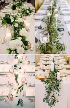 37 Romantic Greenery #WeddingCenterpieces for 2019