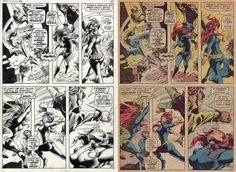 "Indeed! ""@VladQuigley: reproduction of the time (1971) lost Bill Everett's beautifully fine inking of Gene Colan "" B6Z2HChIYAEIojQ.jpg:large (1023×748)"