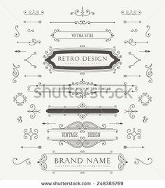 Elementos livre decorativa vetores, escovas Pacote | 123Freevectors