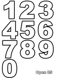 zahlen 1-10 zum ausdrucken kostenlos | Zahlen vorlagen ...