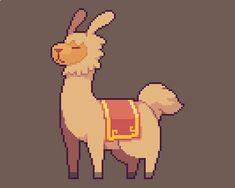 """Llama for the adventure Arte 8 Bits, Anime Pixel Art, Pix Art, Pixel Characters, Graph Paper Art, Pixel Art Games, Art Model, Character Design Inspiration, Art Tutorials"