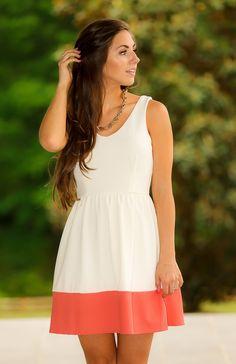 Easy Like Sunday Morning Dress-Coral - Dresses