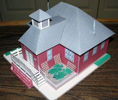 Papercraft - The Little Red School House - Papercraft4u   Free Papercrafts, Paper Toys, Paper Models, Gratis