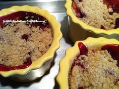 Warm Peach Raspberry Crumble - gluten free, dairy free, soy free - perfect dessert on a chilly night!