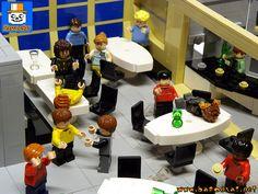 More photos of my custom Star Trek TOS model, the station diorama. Lego Star Trek, Star Trek Tos, Nerdy Things, Lego Creations, Legos, Bar, Lego, Logos