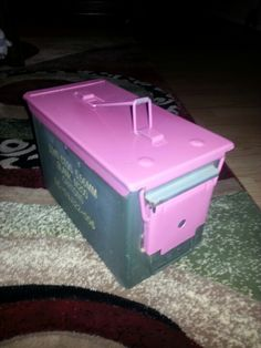 "My girly-fied ammo can! Seeee, even us girls can be ""Preppers""!"