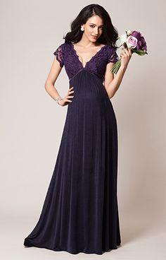 Sevilla Maternity Gown Long Blackberry by Tiffany Rose