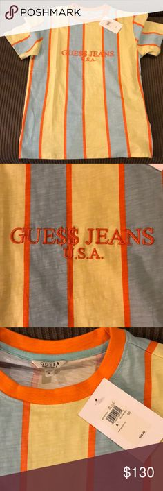A$AP Guess Men's T-Shirt, Brand New Never Worn, A$AP Rocky x Guess Collaboration Original tags still attached  Size Small, Unisex looks good on both men and women Guess Shirts Tees - Short Sleeve