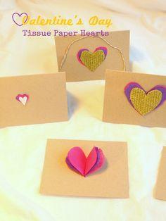 Valentine's Day Tissue Heart DIY