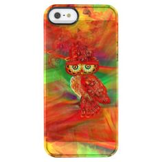 Miss Extravagance Fall Fashion Owl Clear iPhone SE/5/5s Case -nature diy customize sprecial design