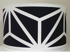 Handmade Lamp Shade   Black & White Geometric