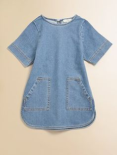 Stella McCartney Kids Toddler's & Little Girl's Denim Dress $98; I would wear this as a tunic with leggings. | niña | Pinterest