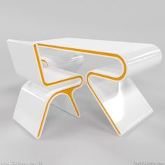 Omega desk and chair by Atomere: Futuristic Furniture