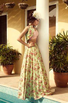 Pakistani model Amna Babar posing for Zara Shahjahan