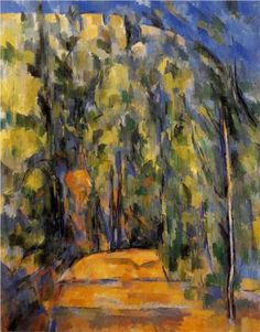 Bend in Forest Road - Paul Cezanne - Oil Painting Reproductions and Prints Cezanne Art, Paul Cezanne Paintings, Paul Gauguin, Art Français, Most Famous Paintings, Forest Road, Oil Painting Reproductions, A4 Poster, Oil Paintings