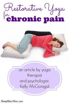 Yoga and Chronic Pain #yoga #chronicpain #fibromyalgia http://www.beingfibromom.com/yoga-and-chronic-pain/