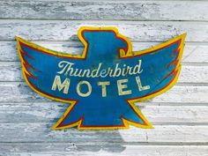 Thunderbird Motel custom hand painted sign by on Etsy