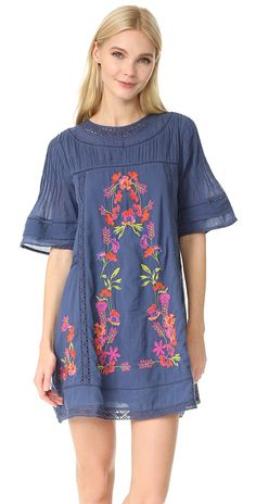 6755ccb8056a88 Free People Perfectly Victorian Embroidered Mini Dress