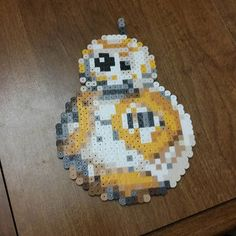 BB-8 Star Wars VII perler beads by from three_point_one_four_creations