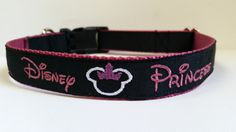 Disney Princess Inspired Embroidered Dog Collar – Saints and Tigers