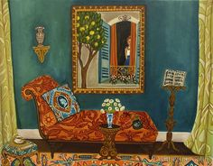 """The Italian Job"" by Catherine Nolin.  Acrylics, 2010."