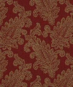 Robert Allen Paisley Puff Red Hot | onlinefabricstore.net