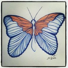 100 Butterflies in 100 Days, Day 9, Medium: Color Pencil