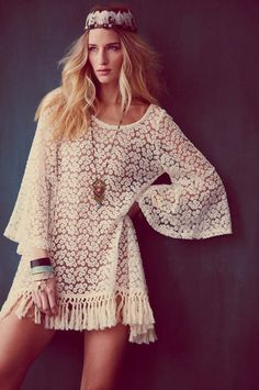 Modern Hippie Free People Festival April 2012   Daisy Tunic  Feathered Zip Boot   Luca Pendant
