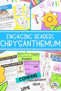 When heading back to school, you may be looking for great read alouds to share with your students at the beginning of the year. Chrysanthemum is a classic back to school read aloud, with great lessons to be learned like being kind to others, and being yourself! These Chrysanthemum activities help students be more engaged with the book as they complete them.