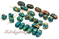 Magic mirror beads of colored scraps. Natashas beads (Natashas BIDS). - Polymer Clay for Beginners. Master classes on sculpting. - Workshops ...