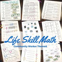 This community worker themed life skill math pack is great to reinforce lessons on community while adding structure to your math lessons while making sure your students get the life skill practice they need. You'll love this PRINT and GO math pack, already differentiated for three different skill levels.
