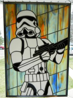 Star Wars Storm Trooper Stained Glass                                                                                                                                                                                 More
