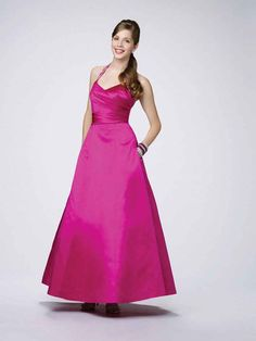 A-line Halter Satin Ankle-length Sleeveless Beading Prom Dresses at pickedlooks.com