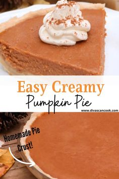 CREAMY, SPICED PUMPKIN PIE FILLING BAKED IN A BUTTER FROM-SCRATCH PIE CRUST. EASY RECIPE THAT BAKES UP FIRM & CRACK-FREE!