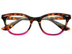 Womens Vintage Clear Lens Cat Eye Glasses Frames Tortoise Pink C592