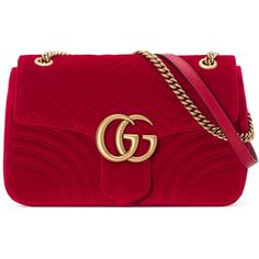 Gucci Gg Marmont Velvet Shoulder Bag ($1,765) ❤ liked on Polyvore featuring bags, handbags, shoulder bags, red, women, man bag, handbag purse, gucci shoulder bag, red purse and hand bags